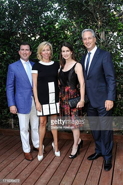 Christian Stracke, Sutton Stracke, Catharine Soros and Jeffrey Soros attend 2013 Los Angeles Dance Project Benefit Gala on June 20, 2013 in Los...