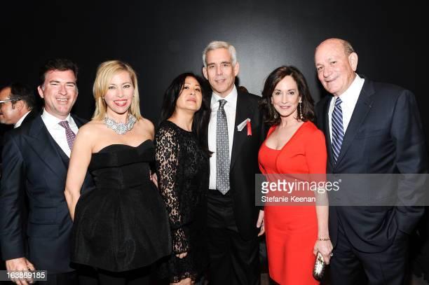 Christian Stracke, Sutton Stracke, Cindy Grad, Richard Grad, Lilly Karatz and Bruce Karatz attend 2013 REDCAT Gala Honoring Catherine Opie And The...