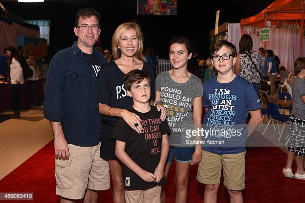 Christian Stracke, Sutton Stracke, James Stracke, Porter Stracke and Phillip Stracke attend P.S. ARTS presents Express Yourself 2014 with sponsors...