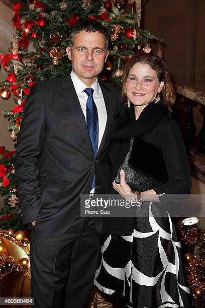 Christian Streib and Hala Gorani attend The Children for Peace Gala at Cercle Interallie on December 12 2014 in Paris France