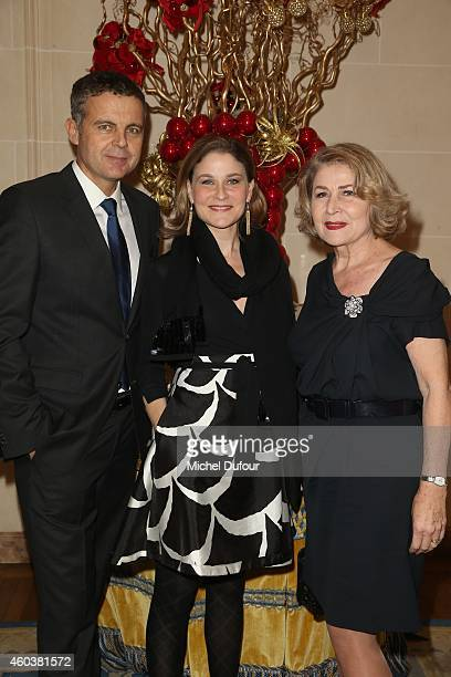 Christian Streib Hala Gorani and her mother Nour attend the Children For Peace Gala at Cercle Interallie on December 12 2014 in Paris France