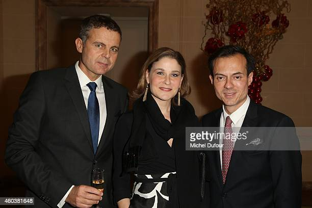 Christian Streib Hala Gorani and Stephane Ruffier Meray attend the Children For Peace Gala at Cercle Interallie on December 12 2014 in Paris France