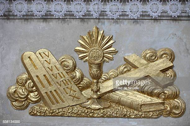 christian symbols - sallanches stock pictures, royalty-free photos & images