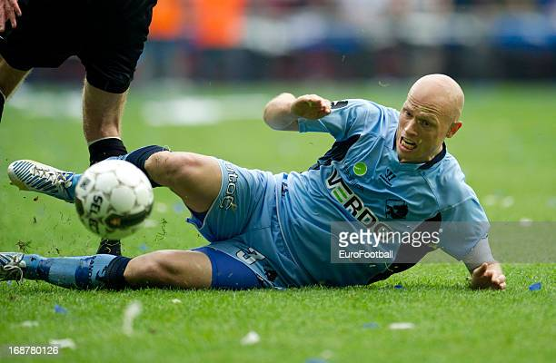 Christian T Keller of Randers FC in action during the Danish Cup Final between Randers FC and Esbjerg fB held on May 9 2013 at the Parken Stadium in...