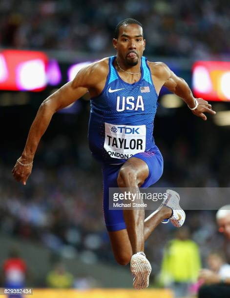 Christian Taylor of the United States competes in the mens triple jump final during day seven of the 16th IAAF World Athletics Championships London...