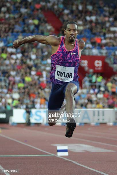 Christian Taylor of US competes during the IAAF World Challenge Zlata Tretra athletics tournament in Ostrava Czech Republic on June 28 2017 / AFP...