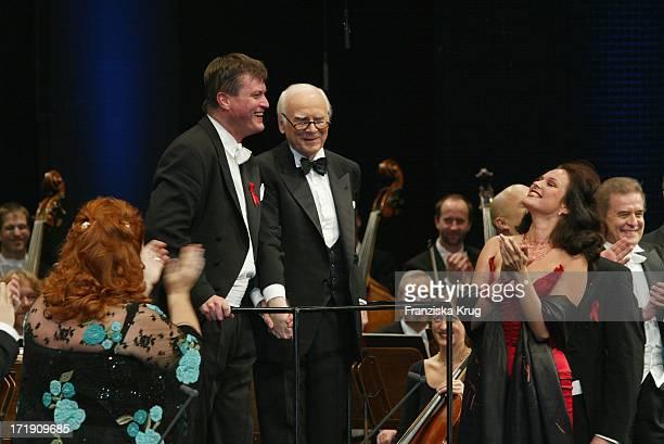 Christian Thielemann Und Vicco Von Bülow Alias Loriot Bei Festlicher Aidsgala In Berlin