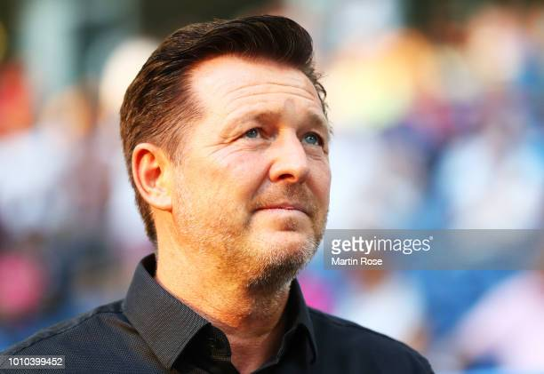 Christian Titz head coach of Hamburger SV during the Second Bundesliga match between Hamburger SV and Holstein Kiel at Volksparkstadion on August 3...