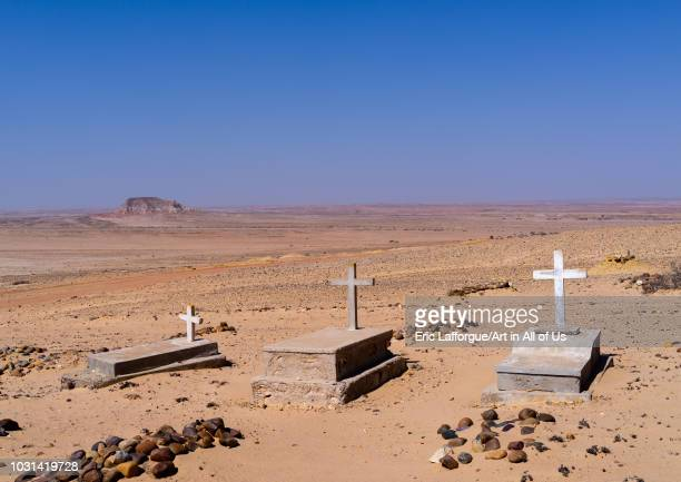 Christian tombs in the desert, Cunene Province, Curoca, Angola on July 18, 2018 in Curoca, Angola.