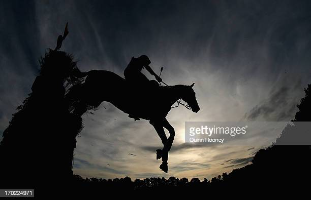 Christian Trainor of Australia riding All Purpose Brown competes in the Cross Country during the Melbourne International Three Day Event at Werribee...