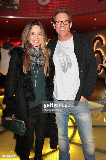 Christian Tramitz and wife Annette attend the premiere of the film 'Vaterfreuden' at Mathaeser Filmpalast on January 29 2014 in Munich Germany