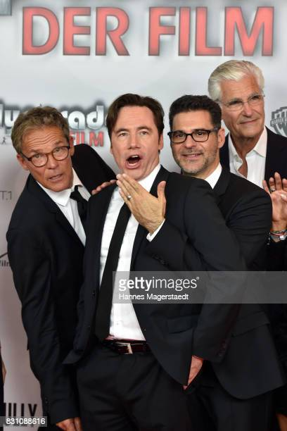 Christian Tramitz Michael Bully Herbig Rick Kavanian and Sky du Mont during 'Bullyparade Der Film' premiere at Mathaeser Filmpalast on August 13 2017...
