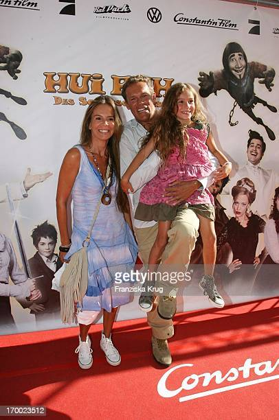 Christian Tramitz wife Anette And Daughter At The Premiere Of Luca Hui Buh The Goofy Ghost In Mathäser Filmpalast In Munich On 160706