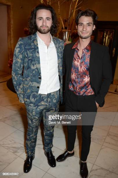 Christian Tye and Jack Brett Anderson attend an after party following the UK Premiere of 'The Happy Prince' hosted by Justine Picardie editor of...