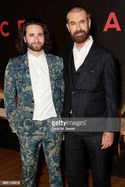 Christian Tye and Rupert Everett attend the UK Premiere of 'The Happy Prince' at the Vue West End on June 5 2018 in London England