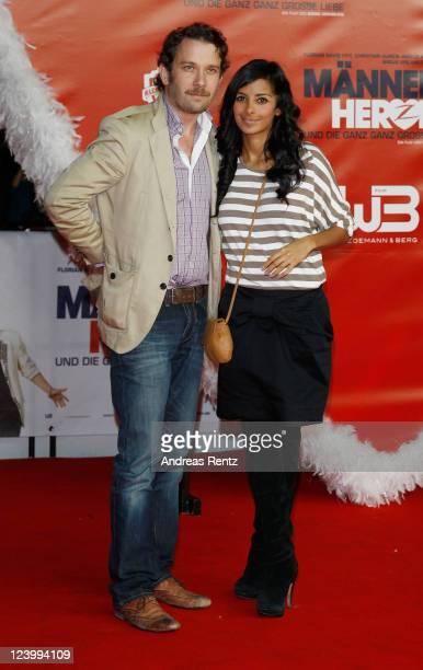 Christian Ulmen and Collien Fernandes attend the 'Maennerherzen 2 und die ganz grosse Liebe' premiere at CineStar on September 7 2011 in Berlin...