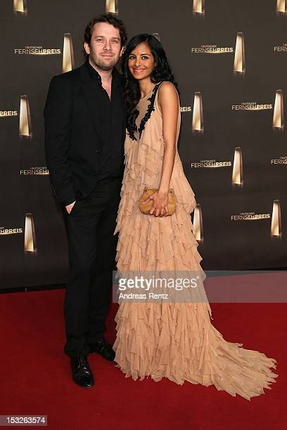 Christian Ulmen and Collien UlmenFernandes arrive for the German TV Award 2012 at Coloneum on October 2 2012 in Cologne Germany