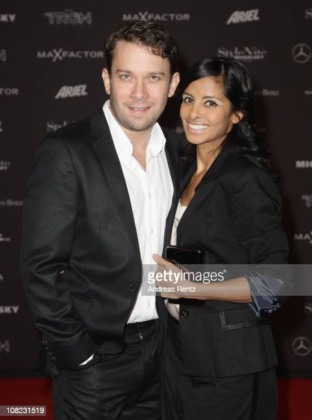 Christian Ulmen and partner Collien Fernandes arrive for the Michalsky StyleNite during the Mercedes Benz Fashion Week Autumn/Winter 2011 at...