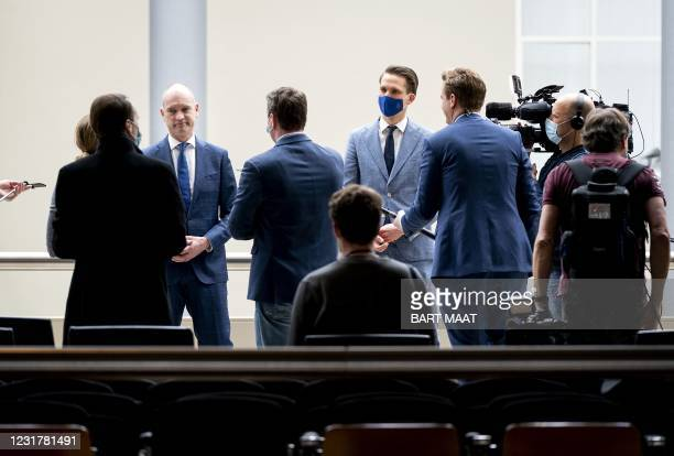 Christian Union party leader Gert-Jan Segers attends a faction meeting of the CU in the Thorbeckezaal in The Hague, on March 18 the day after the...
