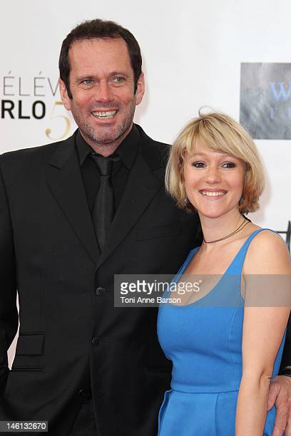 Christian Vadim and Julia Livage arrive at the 52nd Monte Carlo TV Festival 2012 Opening Ceremony at the Grimaldi Forum on June 10 2012 in MonteCarlo...