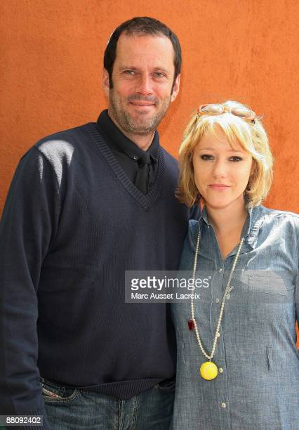 Christian Vadim and Julia Livage attend The French Open 2009 at Roland Garros on June 1 2009 in Paris France