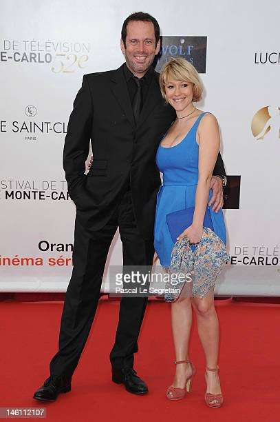 Christian Vadim and Julia Livage attend the opening night of the 2012 Monte Carlo Television Festival held at Grimaldi Forum on June 10 2012 in...