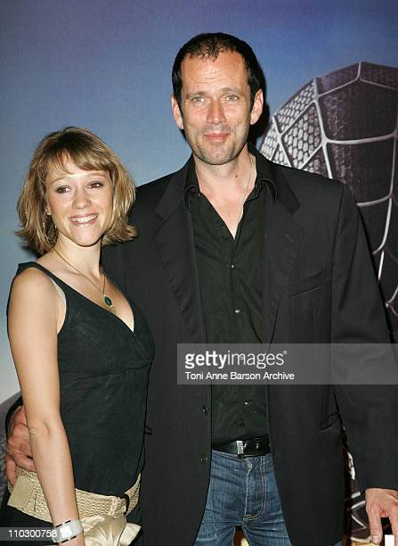Christian Vadim and Julia Livage during SpiderMan 3 Paris Premiere Inside Arrivals at Le Grand Rex Theater in Paris France