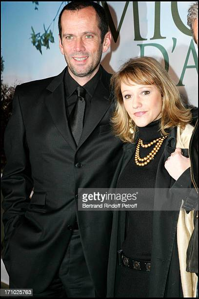 Christian Vadim and Julia Livage Premiere of the movie Michou D'Auber at the Gaumont Ambassade cinema in Paris