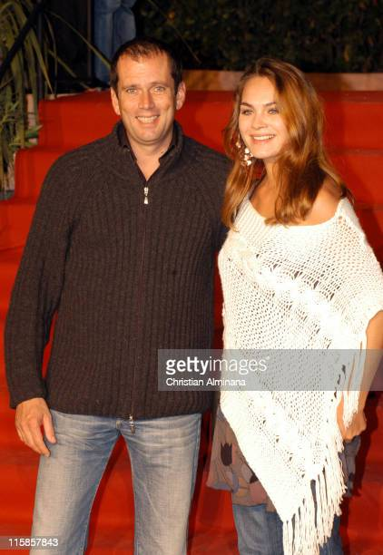 Christian Vadim and Melanie Maudran during The 2004 St Tropez Television Festival Premier Secours Premiere at St Tropez in St Tropez France