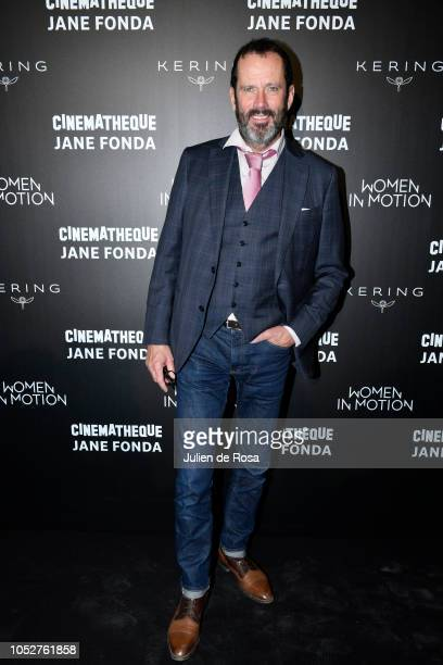 Christian Vadim attends Kering Women In Motion Master Class With Jane Fonda at la cinematheque on October 22 2018 in Paris France