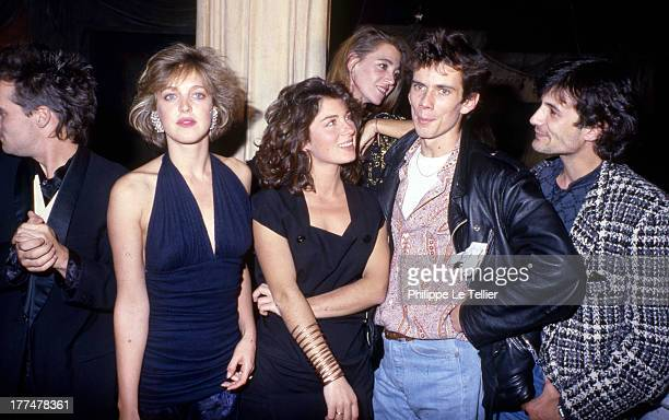 Christian Vadim celebrates his birthday with friends at the Palace Agnes Soral Veronique Genest France 1985 Christian Vadim fete son anniversaire au...