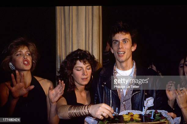 Christian Vadim celebrates his birthday with friends at the Palace Agne Soral Veronique Genest Paris 1985 Christian Vadim fete son anniversaire au...