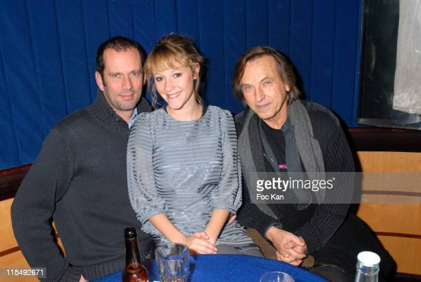 Christian Vadim Julia Livage and Alexandre Arcady attend the Gone Baby Gone Paris Screening Party at Planet Hollywood on December 11 2007 in Paris...