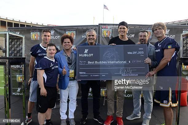 Christian Venda Velde, Romero Britto, Hublot CEO Ricardo Guadalupe, New England Patriot Tom Brady, Hublot JV President Rick de la Croix, and Best...