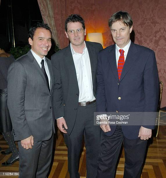 Christian Vesper Chris Eigeman and Whit Stillman during The French Consulate Host Rendezvous with French Cinema 2006 Party at French Consulate in New...