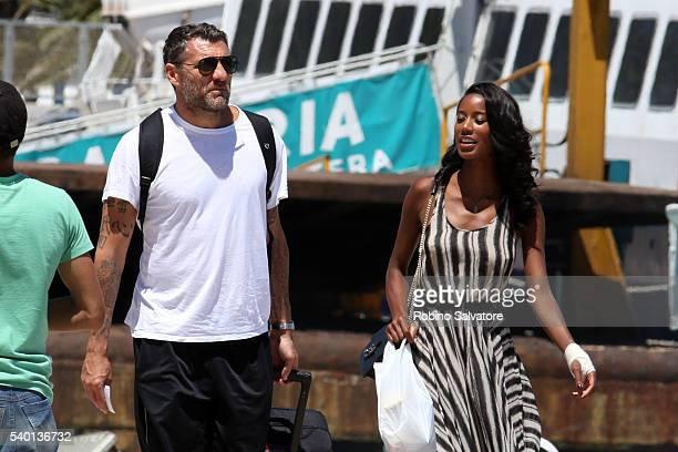 Christian Vieri and Jazzma Kendrick seen on June 14 2016 in Ibiza Spain