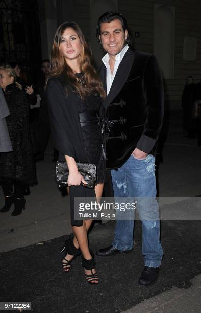 Christian Vieri and Melissa Satta attend Vogueit during Milan Fashion Week Womenswear Autumn/Winter 2010 on February 26 2010 in Milan Italy