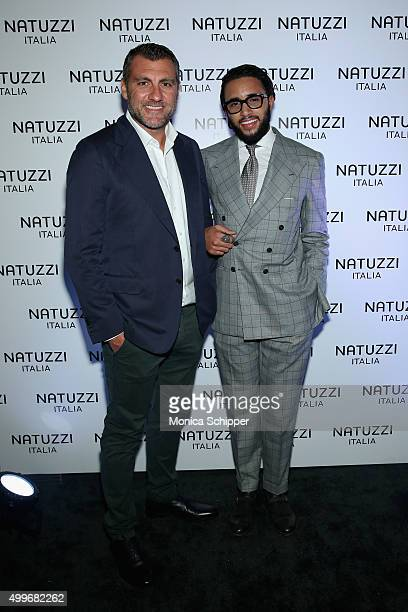 Christian Vieri and Pasquale Jr Natuzzi attend Natuzzi Art Miami Opening on December 2 2015 in Miami Florida