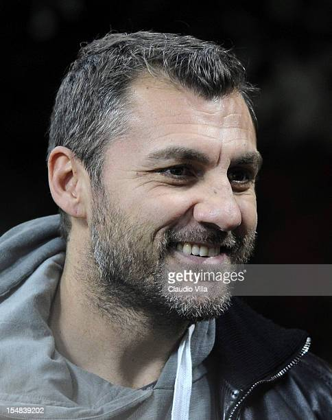 Christian Vieri attends during the Serie A match between AC Milan and Genoa CFC at San Siro Stadium on October 27 2012 in Milan Italy