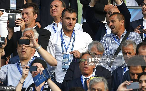 Christian Vieri attends the UEFA Champions League Final between Juventus Turin and FC Barcelona at Olympiastadion on June 6 2015 in Berlin Germany