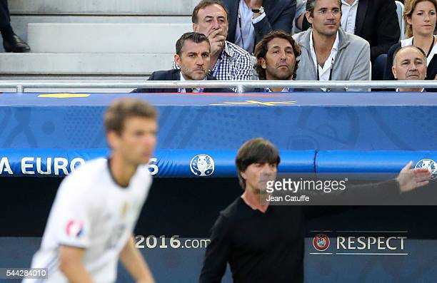 Christian Vieri attends the UEFA Euro 2016 quarter final match between Germany and Italy at Stade Matmut Atlantique on July 2 2016 in Bordeaux France