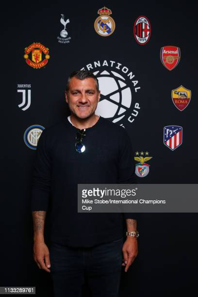 Christian Vieri of Atletico Madrid attends day two of the International Champions Cup launch event at 107 Grand on March 28 2019 in New York City