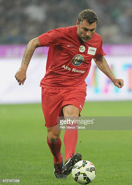 Christian Vieri of Expo Team in action during the Zanetti and friends Match for Expo at Stadio Giuseppe Meazza on May 4 2015 in Milan Italy