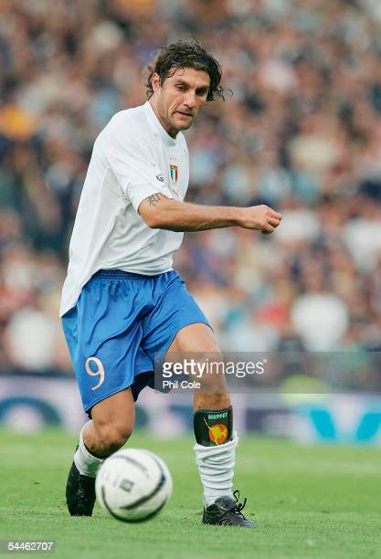Christian Vieri of Italy during the Group Five FIFA World Cup Qualifying match between Scotland and Italy at Hampden Park Stadium on September 5 2005...