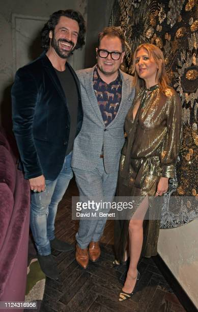 Christian Vit Alan Carr and Azzi Glasser attend the launch of The Mandrake's 2019 Artist In Residence programme hosted by Azzi Glasser Alan Carr at...