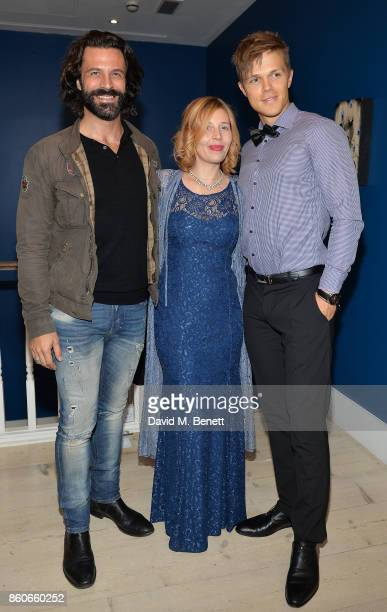 Christian Vit Alexandra Mazzanti and Dan Olsen attend the Dorothy Circus Gallery 10th anniversary exhibition Pages From Mind Travellers Diaries on...