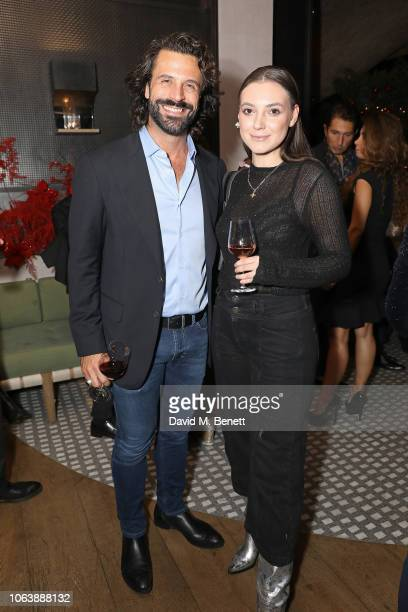 Christian Vit and Andreea Cristea at Fucina's Festa Italiana on November 20 2018 in London England