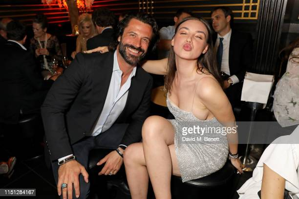 Christian Vit and Andreea Cristea attend the 50th Anniversary of Tramp on May 23 2019 in London England