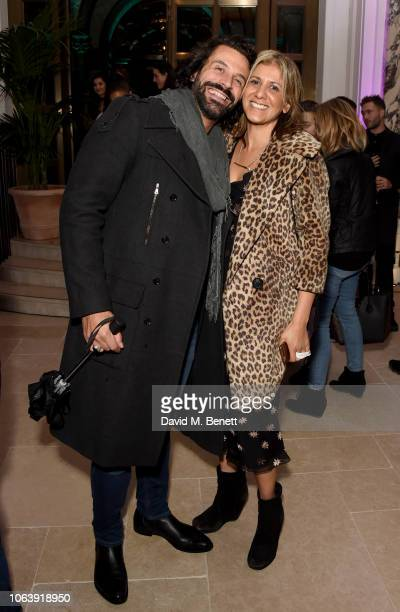 Christian Vit and Azzi Glasser attend the Kimpton Hotels Restaurants a housewarming party to celebrate its arrival in the UK at Kimpton Fitzroy...