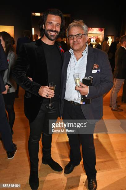 Christian Vit and Baldassare La Rizza attend Terrence Higgins Trust The Auction in support of people living with HIV at Christie's on April 11 2017...